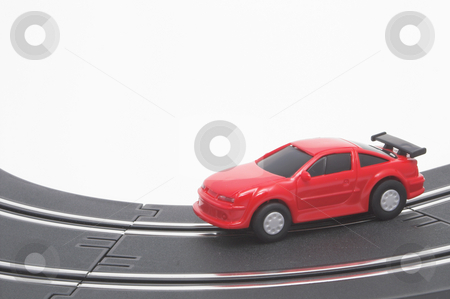 Slot Car stock photo, A slot car racing on a track. by Robert Byron