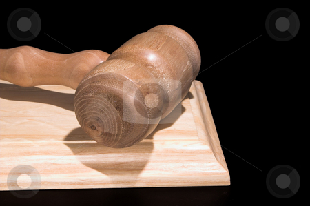 Gavel stock photo, A judge's gavel used in a court of law. by Robert Byron