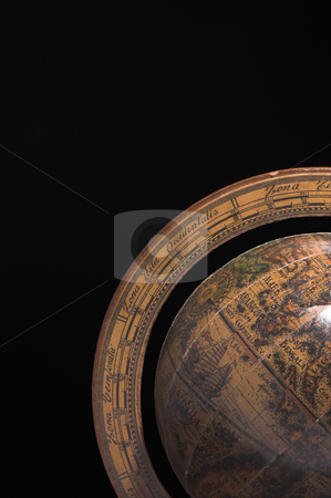 Globe of the Earth stock photo, A globe of the Earth in shadow. by Robert Byron
