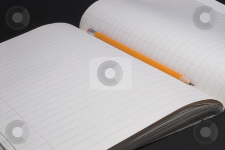 Notebook and Paper stock photo, A composition book and a number 2 pencil. by Robert Byron