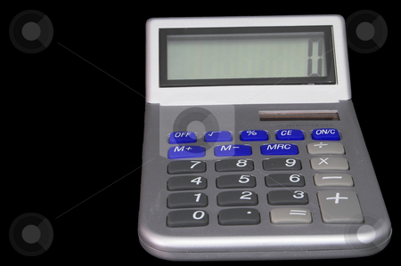 Modern Calculator stock photo, A modern business calculator for performing computations. by Robert Byron