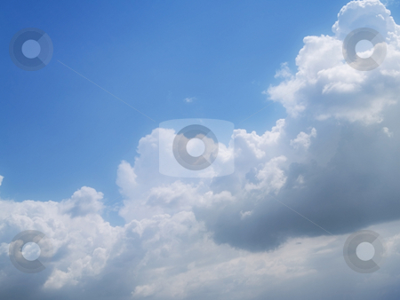 Blue sky stock photo, Blue background sky on a cloudy day by Adrian Costea