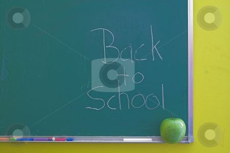 Chalkboard - Back to School stock photo, A green chalkboard - Back to school concept. by Robert Byron
