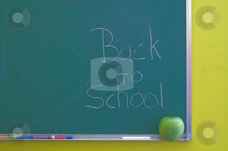 Chalkboard - Back to School stock photo, A green chalkboard - Back to school concept. by Robert Byron