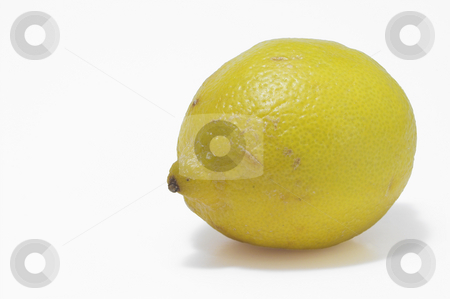 A Yellow Lemon stock photo, A deliciously sour and fresh yellow lemon. by Robert Byron