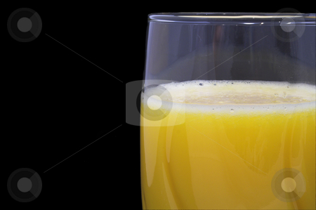 Orange Juice stock photo, Fresh orange juice in a drinking glass. by Robert Byron