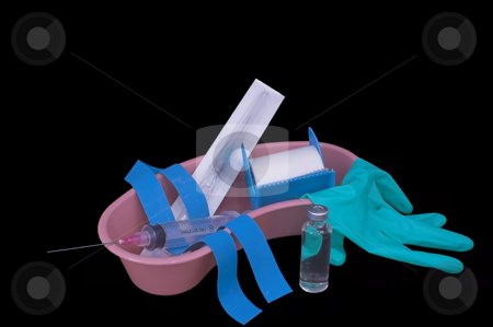 IV Kit stock photo, A medical kit for preparing an intravenous injection. by Robert Byron