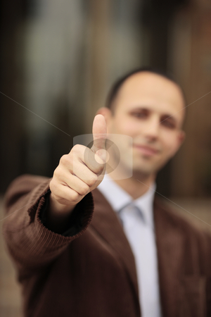 Well done stock photo, Man showing the OK sign by Claudia Veja