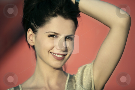 I feel pretty stock photo, Gorgeous woman smiling by Claudia Veja