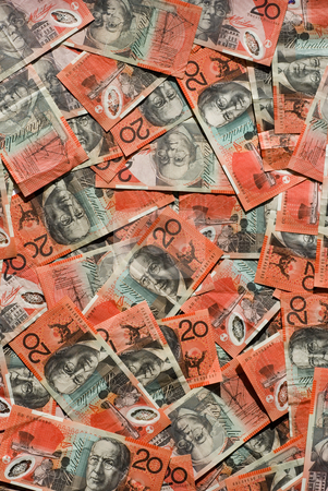 20 dollar bills stock photo, Australian bank notes by Stephen Gibson
