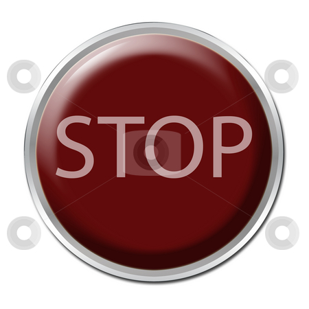Stop Button stock photo, Red button with the word