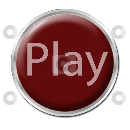 Play Button stock photo, button with the word