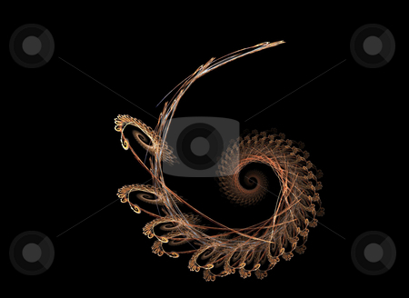 Background stock photo, Spiralized star flame on the black background by Petr Koudelka