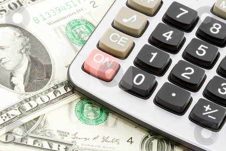 Money Calculations stock photo, Difficult financial calculations - economics background - close up by Petr Koudelka