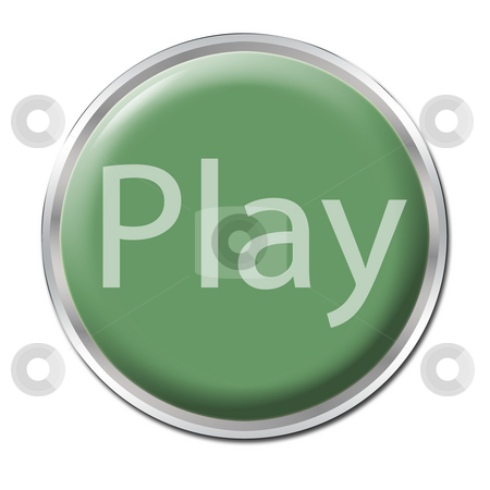 Play Button stock photo, Green button with the word