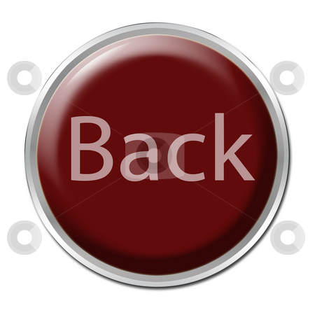 Back Button stock photo, Red button with the word