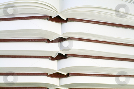 Old Books stock photo, A row of the same old books - close up by Petr Koudelka
