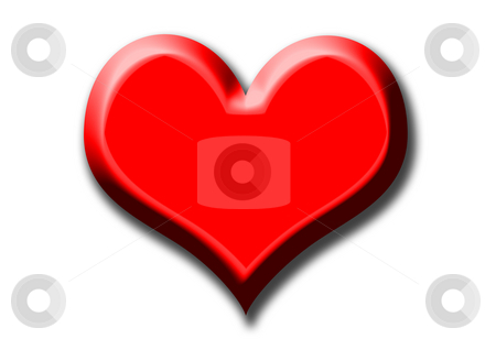 Heart stock photo, A very big red heart on the white background by Petr Koudelka