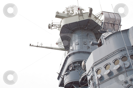 Battleship Conning Tower stock photo, Conning tower of a North Carolina class battleship. by Robert Byron