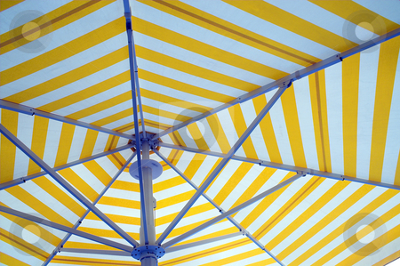 Beach Umbrella stock photo, An opened beach, pool or patio umbrella. by Robert Byron