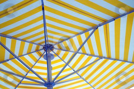 Beach Umbrella stock photo, An opened beach, pool or patio umbrella. by Robert Byron