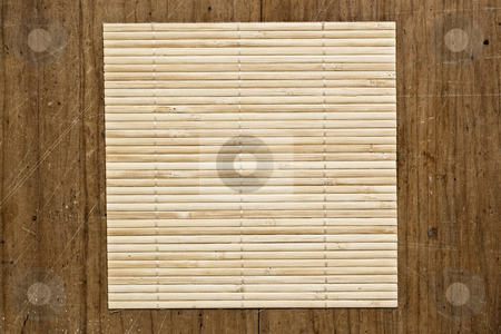 Bamboo mat background. stock photo, Bamboo mat background, close up shot. by Pablo Caridad