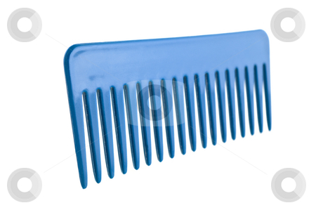 Hair plastic comb isolated stock photo, Hair plastic comb isolated, white background. Closeup shot. by Pablo Caridad