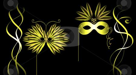 Masquerade Illustration stock photo, Masquerade illustration by John Teeter