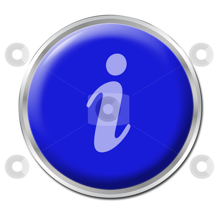 Info Button stock photo, Blue round button with the symbol for information by Petr Koudelka