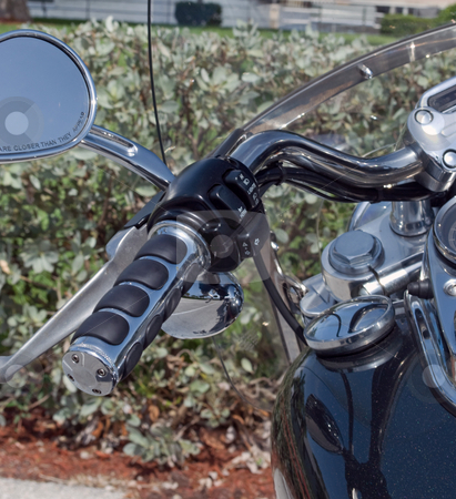 Motorcycle Close up stock photo, Motorcycle ready to ride close up view by Robert Cabrera