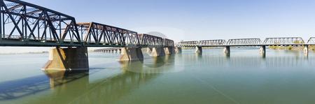 Bridge stock photo, Victoria bridge in Montreal city Quebec Canada by Vlad Podkhlebnik