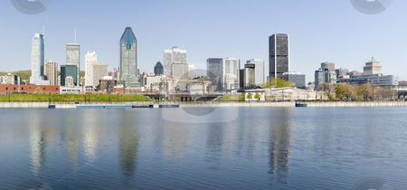 Cityscape stock photo, Panoramic view of Montreal City in Quebec Canada by Vlad Podkhlebnik