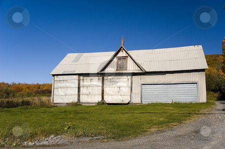 Barn stock photo, Lonely barn by the country side by Vlad Podkhlebnik