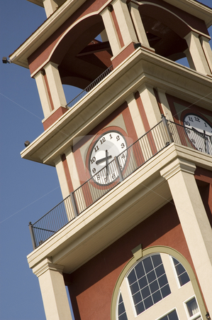 Clock Tower stock photo, A clock tower by a beautifull sunny day by Vlad Podkhlebnik