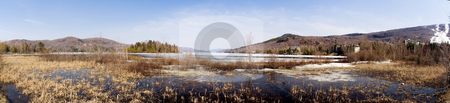 Landscape stock photo, Panoramic view of a rural landscape by Vlad Podkhlebnik