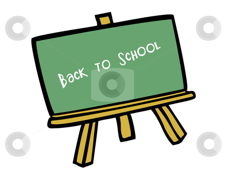 Back to school stock photo, Vector based illustration of a green chalk board by Vlad Podkhlebnik