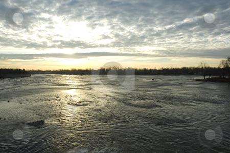 Sunrise stock photo, Landscape view of a Sunrise on a lake by Vlad Podkhlebnik