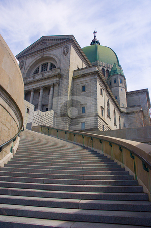 Church stock photo, Stairs of the St-Joseph Oratory in Montreal city by Vlad Podkhlebnik