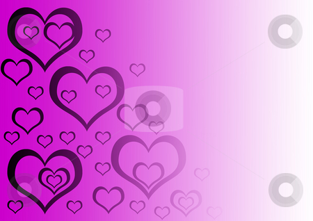 Heart stock photo, Gradient background with purple hearts on it by Petr Koudelka