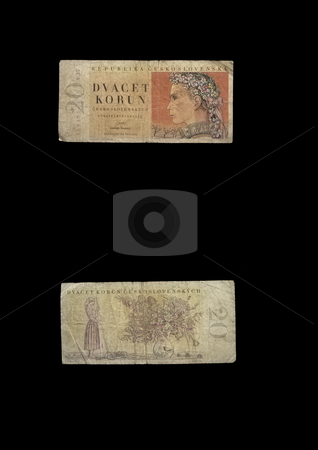 20 KCS stock photo, This banknote was used in old Czechoslovakia. by Petr Koudelka