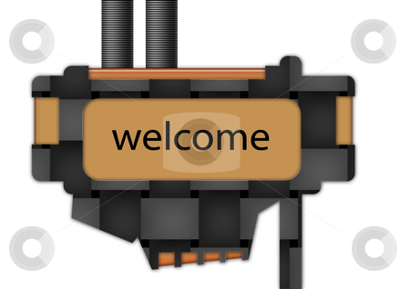Sign - Welcome stock photo, Sign spelling the word