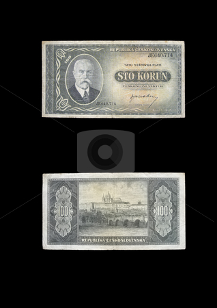 100 KCS stock photo, This banknote was used in old Czechoslovakia. by Petr Koudelka