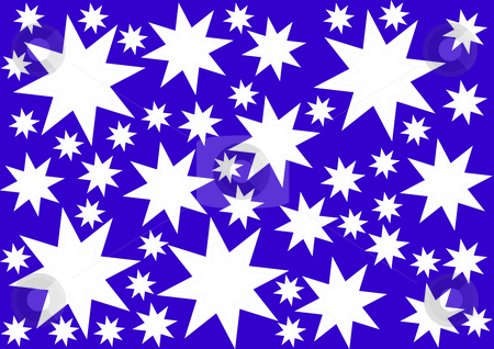 Background with Stars stock photo, White illustrated stars on the dark blue background by Petr Koudelka
