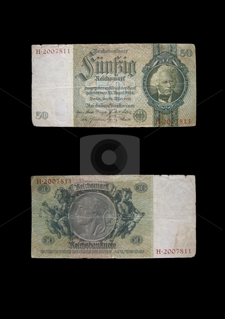 Reichmark 50 stock photo, This money was used in