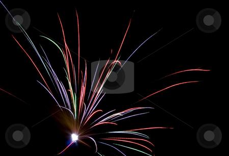 Fireworks Lighting up the Sky stock photo, Fireworks Lighting up the Black Night Sky by Petr Koudelka