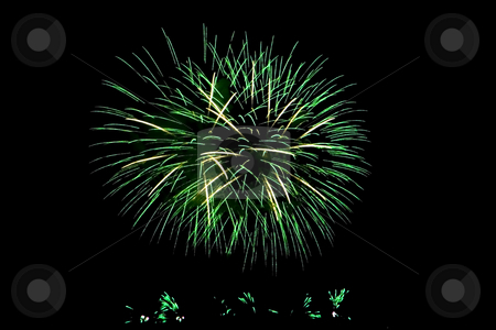Fireworks Lighting up the Sky stock photo, Fireworks Lighting up the Black Night Sky by Petr Koudelka