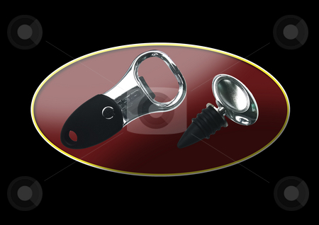 Bottle Opener Kit stock photo, Bottle opener kit which can be useful both in kitchens and in bars. by Petr Koudelka