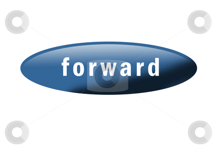 Forward Button stock photo, Blue button with the word