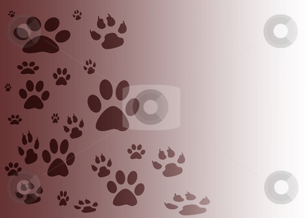 Gradient Background stock photo, Brown and white gradient background with various footprints by Petr Koudelka