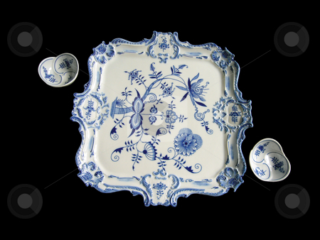 Bowls And Tray  stock photo, China decorated in the so called